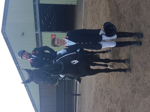 Daniel Bates at Hartpury with Sir Lee Pearson